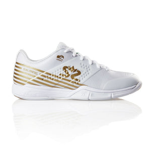 Salming Viper 5 White / Gold Women's Indoor Court Shoes