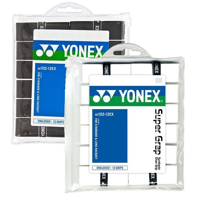 Yonex Super Grap 12 Pack - White & Black