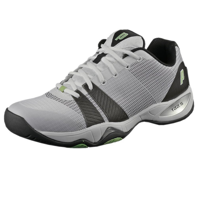 Prince T22.5 Mens Tennis Shoes White/Green/Black