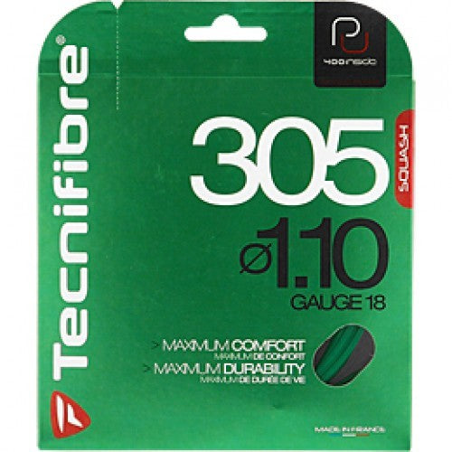 Tecnifibre 305 1.10mm Green Squash String Set