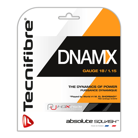 Tecnifibre DNAMX 18 guage / 1.15mm Black Squash String 9.7m Package