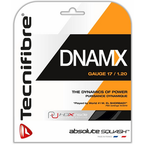 Tecnifibre DNAMX 17 guage / 1.20mm Black Squash String 9.7m Package