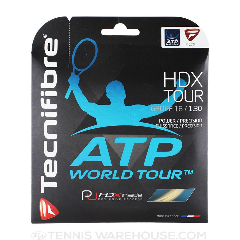 Tecnifibre HDX Tour 16g / 1.30mm Multifilament Tennis String Set - Natural