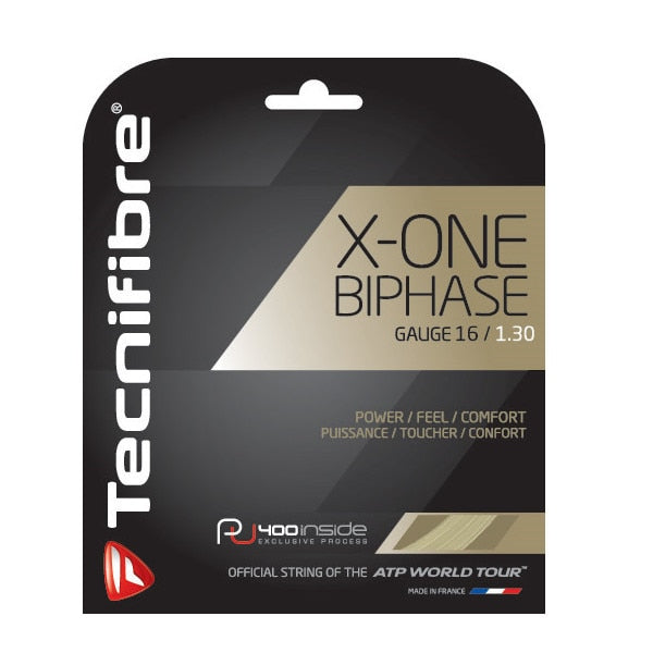 Tecnifibre X-ONE BIPHASE 16g/1.30mm Multifilament Tennis String Set - Natural