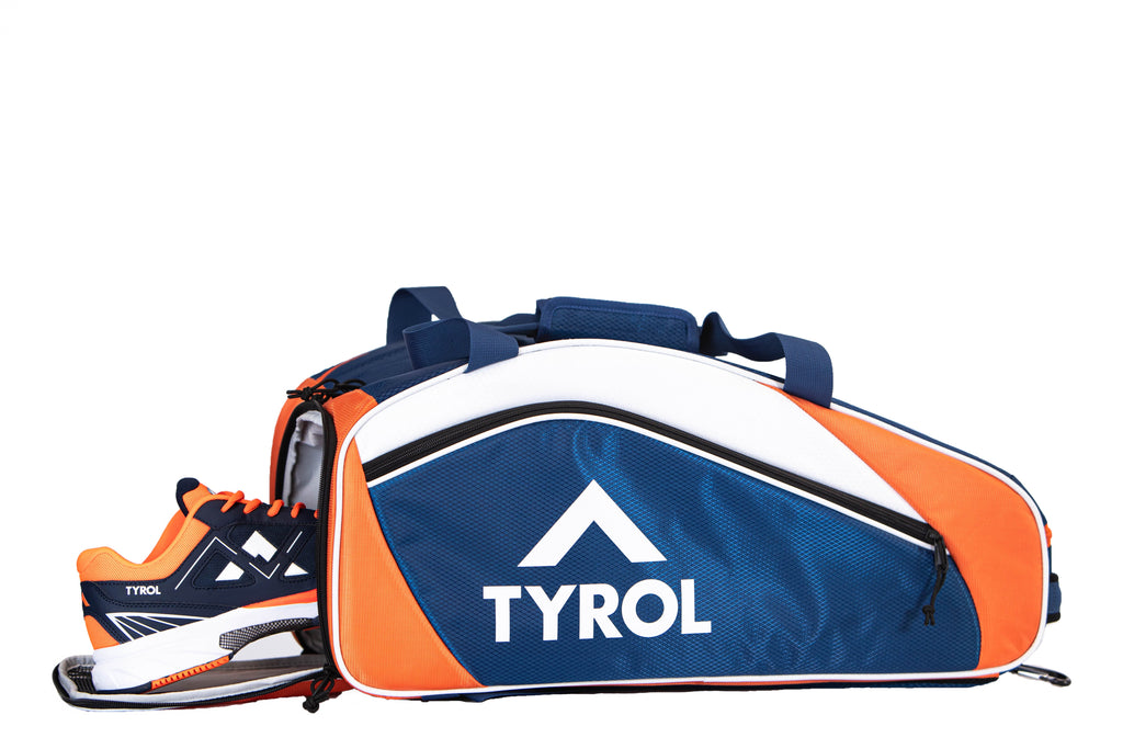 Tyrol Club Bag Navy/Orange/White Side