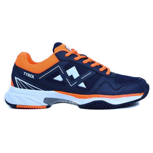 Tyrol Volley Navy/Orange Men's Pickleball Indoor Court Shoes
