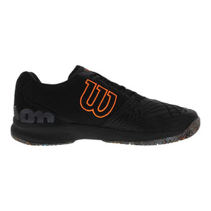 Wilson Kaos 2.0 Ebony / Black / Orange Men's Tennis Shoes