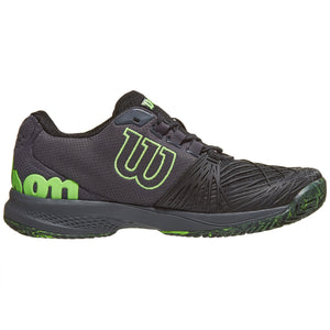 Wilson Mens Kaos 2.0 Black/Ebony/Gecko Green Tennis Shoes