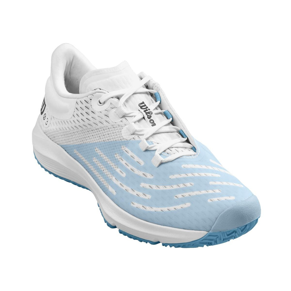 Wilson Mens Kaos 3.0 White/White Niagara Women's Tennis Shoes