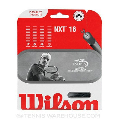 Wilson NXT 16 Multifilament Black Tennis String Set
