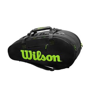 Wilson Super Tour 2 Compartment Large Tennis Bag - Charcoal/Green