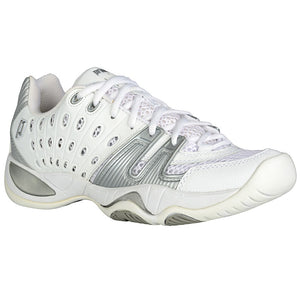 Prince T22 White/Silver Women's Tennis Shoes