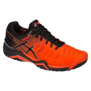Asics Gel Resolution 7 Cherry Tomato/Black Men's Tennis Shoes