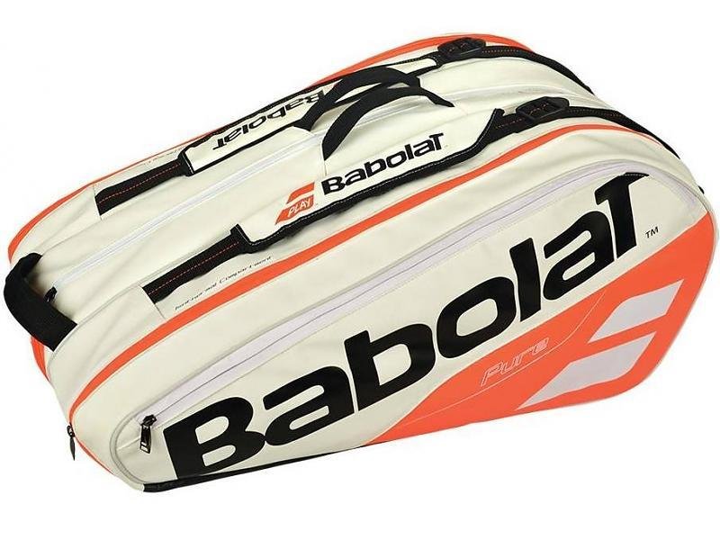 Babolat Pure Line 12 Pack  White/Red Tennis Bag