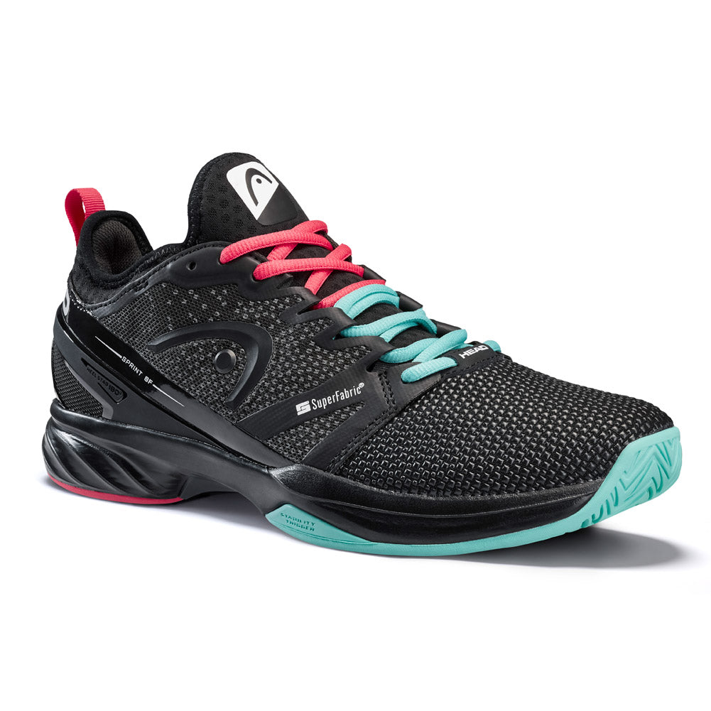 Head Sprint SF Mens Tennis Shoes Black/Teal