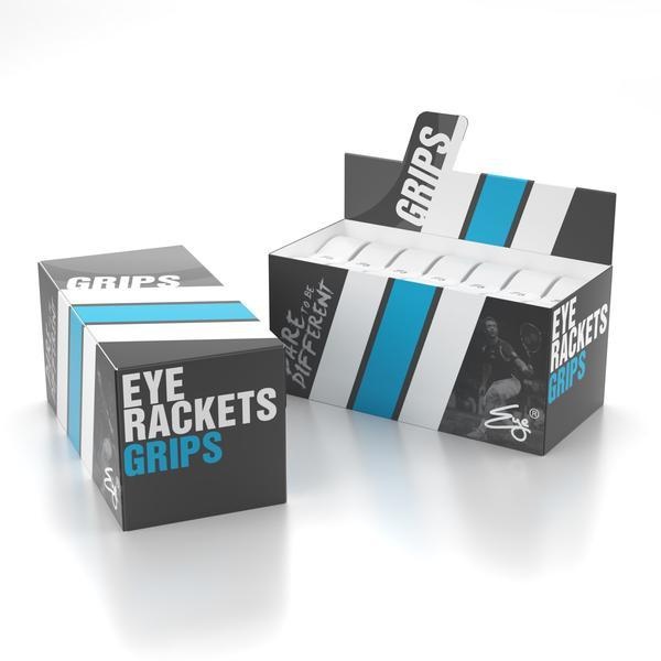 Eye Rackets PU Replacement Grip Box Of 24 Assorted