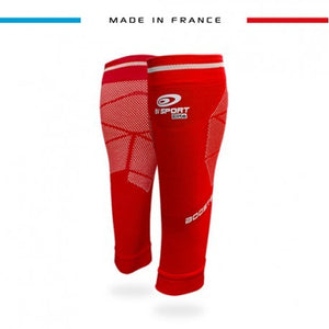 BV Sport Booster Elite EVO2 Red Compression Calf Sleeves