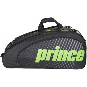 Prince Tour Challenger Black/Green 9R Tennis Bag