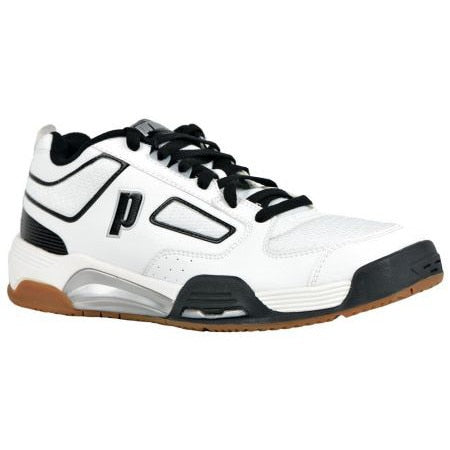 Prince NFS Assault White/Black Indoor Court Shoes