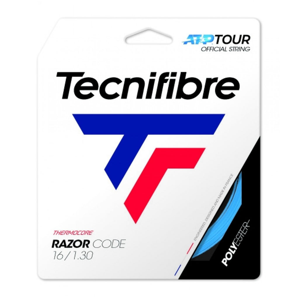 Tecnifibre Razor Code 16g/1.30mm CO-Polyester Tennis String Set - Blue