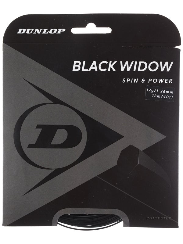 Dunlop Black Widow 17g / 1.26mm Tennis String Set