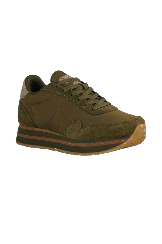 Woden Nora lll Plateau sneakers | Bæredygtige sneakers i olivengrøn