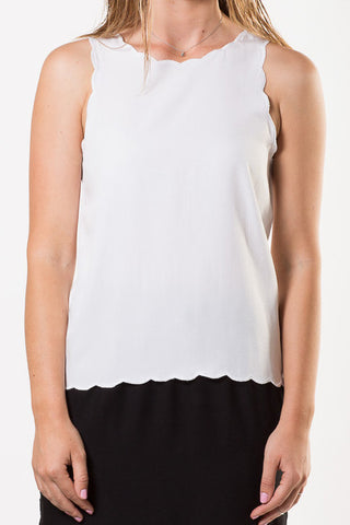 Liberty Lee Bondi Tank White