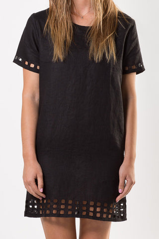 Liberty Lee La Plagé Shift Dress Black