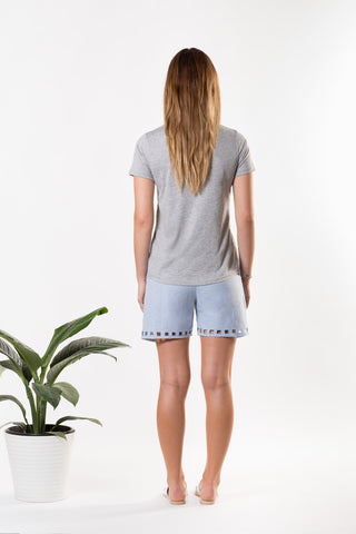 Liberty Lee Ocean Tee Grey Marle