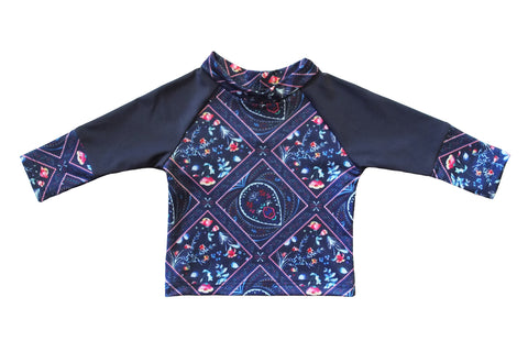 Paisley Love Girls Long Sleeve Rashie