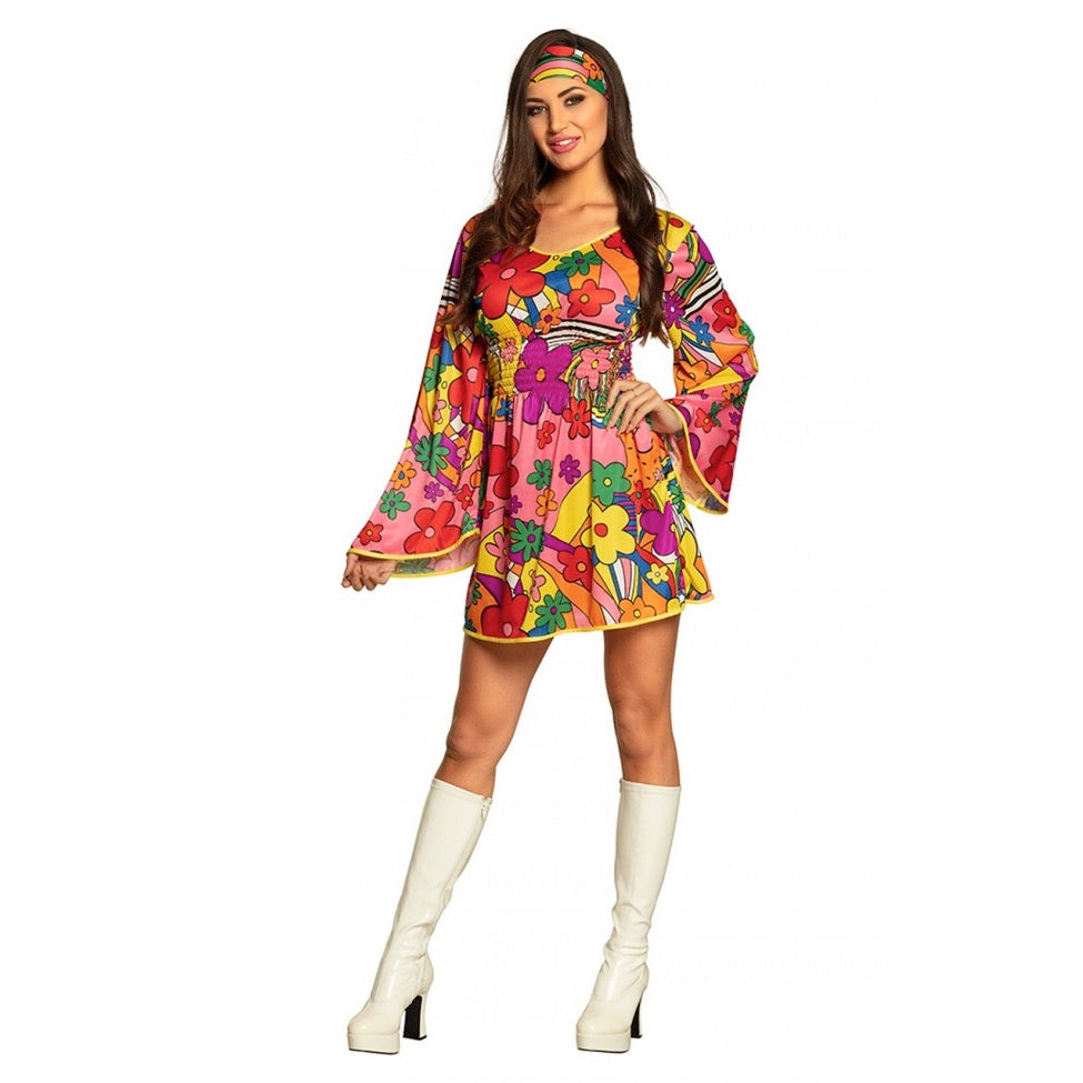 Flower Power Jurk Floral Fun