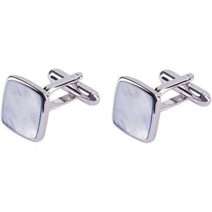 Manchetknopen / Cufflinks Profuomo Blue Mother of Pearl - Scattando Verkleedhuis