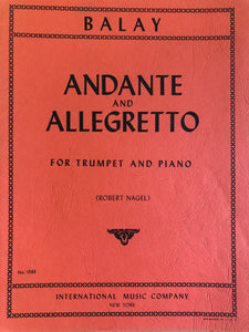 Andante and Allegretto, Trumpet and Piano, Nagel - Scattando Verkleedhuis