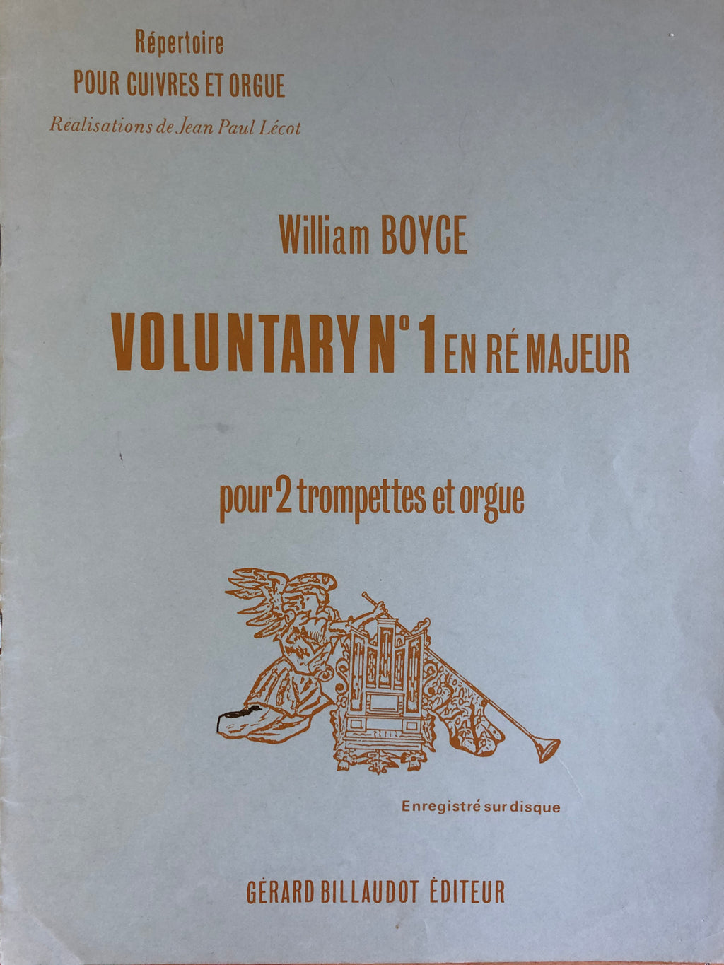 Voluntary nr 1 voor 2 trompetten en orgel, William Boyce - Scattando Verkleedhuis