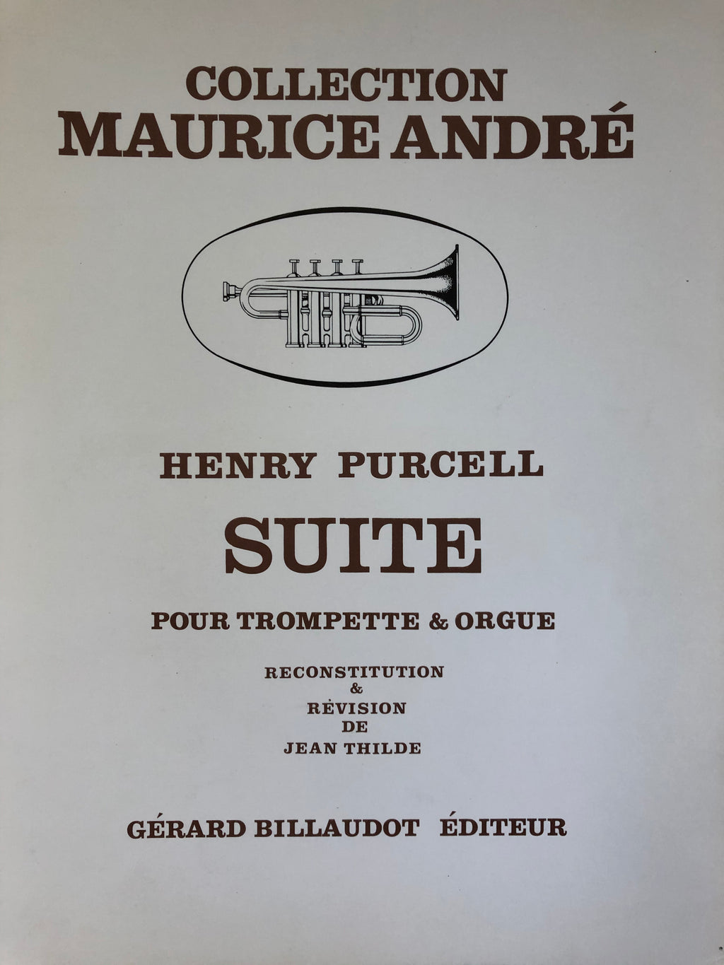 Suite pour Trompette & Orgue, Purcel, Maurice Andre Collection - Scattando Verkleedhuis