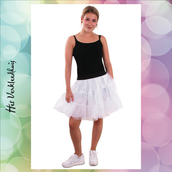 Petticoat wit 3-laags one-size