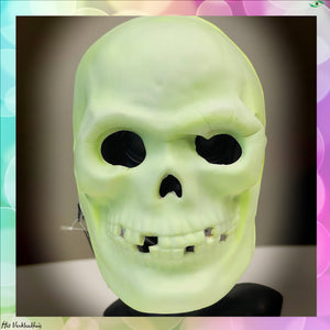 Doodshoofd masker Glow in the Dark - Scattando Verkleedhuis