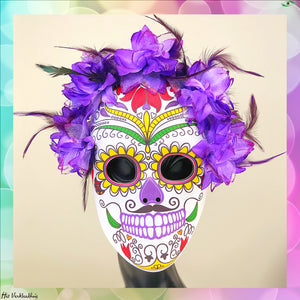 Masker Day of The Dead Paars - Scattando Verkleedhuis