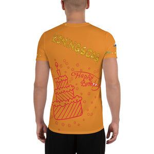Koningsdag T-Shirt Happy Birthday Orange - Scattando Verkleedhuis