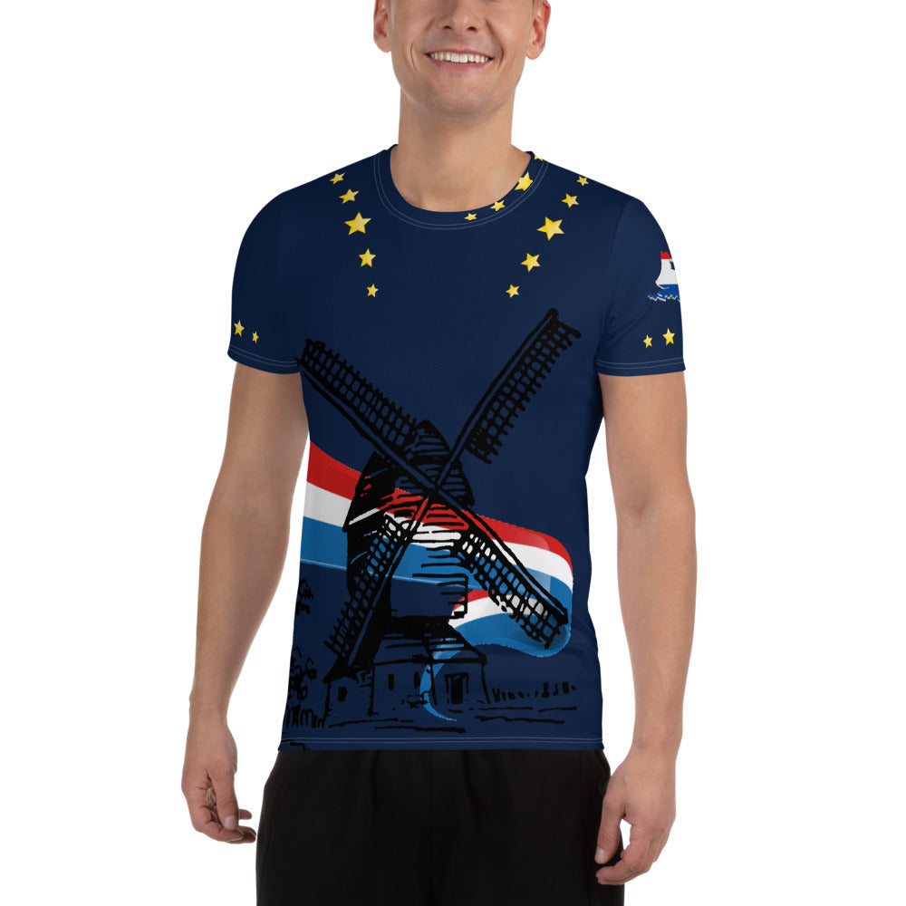 Topper T-Shirt Happy Birthday Blue - Scattando Verkleedhuis