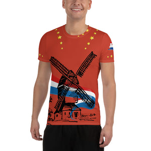 Topper T-Shirt Happy Birthday Red - Scattando Verkleedhuis