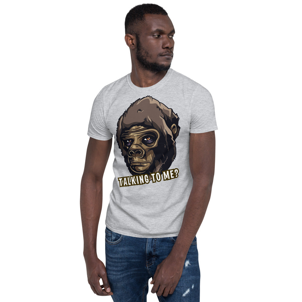 Talking to me? Short-Sleeve Unisex T-Shirt - Scattando Verkleedhuis