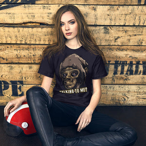 Talking to me? Short-Sleeve Unisex T-Shirt, gratis verzending - Scattando Verkleedhuis