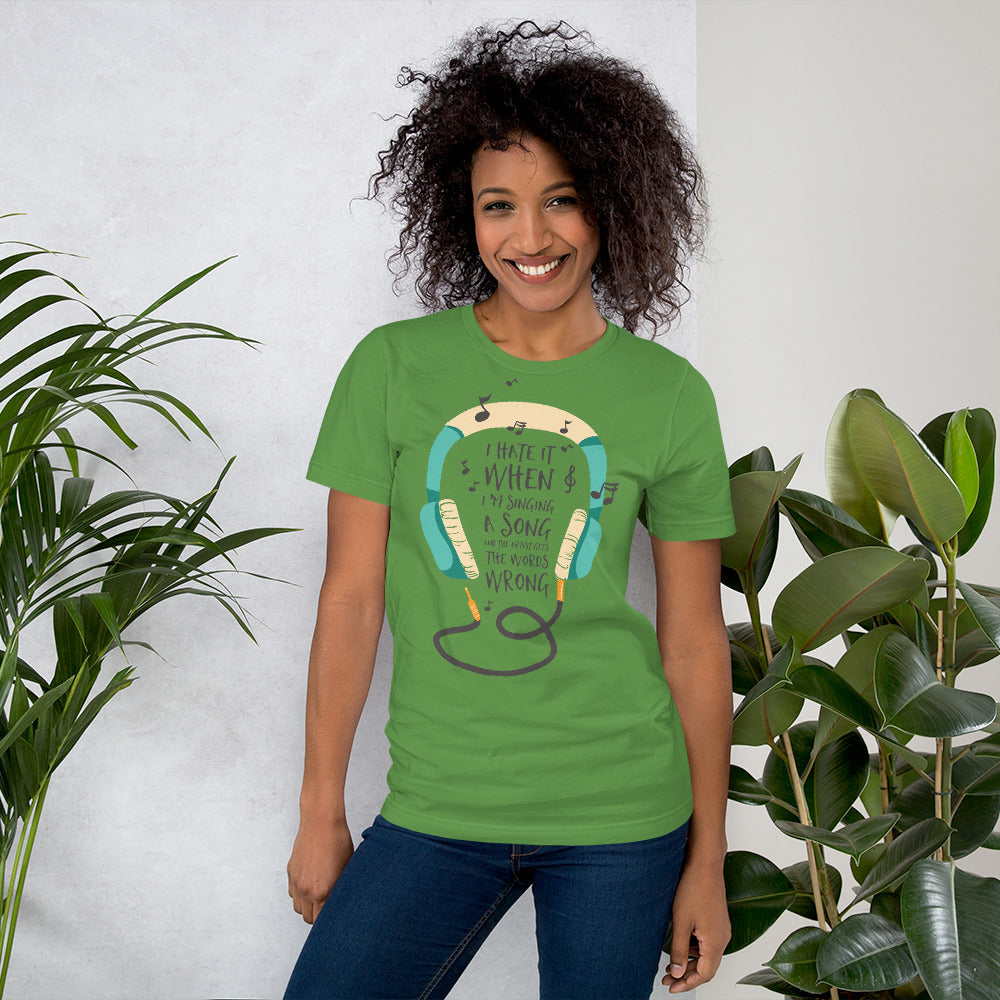 I hate it.. Short-Sleeve Unisex T-Shirt, gratis verzending - Scattando Verkleedhuis