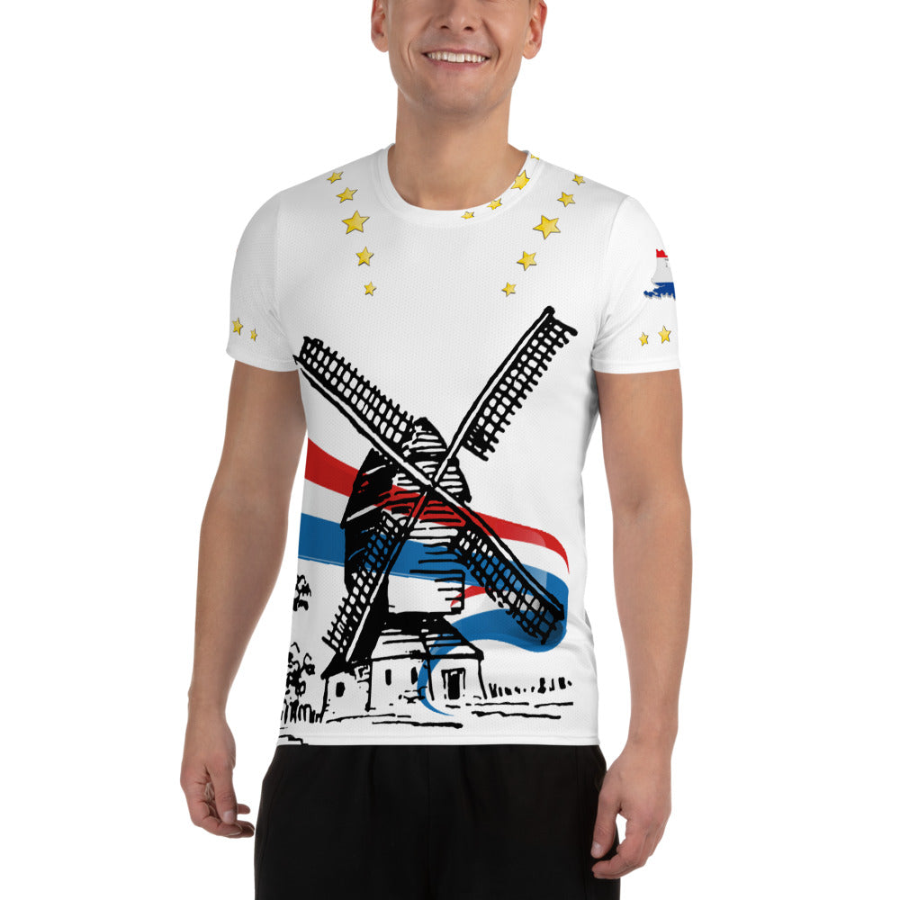 Topper T-Shirt Happy Birthday White - Scattando Verkleedhuis
