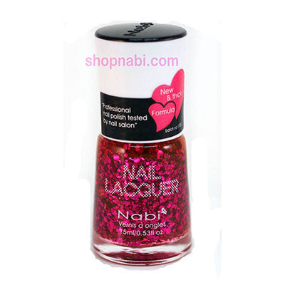 Nabi I Nail Polish no.113 Lilac Big Glitter