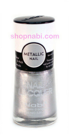 Nabi Metallic Nail Polish no.127 Metallic Silver