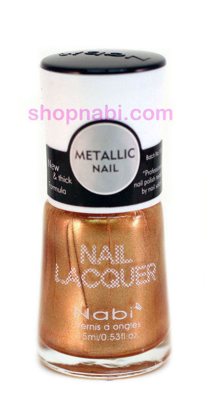 Nabi Metallic Nail Polish no.128 Metallic Gold