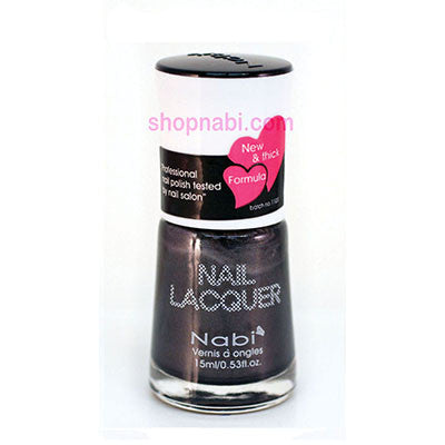 Nabi I Nail Polish no.12 Charcoal