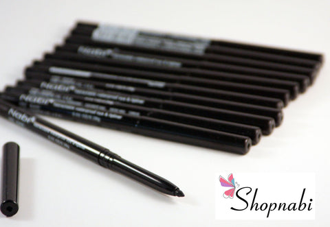 12pcs Nabi Retractable Waterproof Black Eyeliner